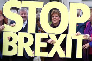 First Minister Nicola Sturgeon said the Brexit deal is 'a massive sell out and broken promise' (Andrew Milligan/PA)