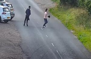 A man and a woman are among three people thought to have been in the Renault. (West Midlands Police/PA)