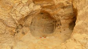 The small cave believed to be from the 14th century that was discovered by rail workers (Network Rail/PA)