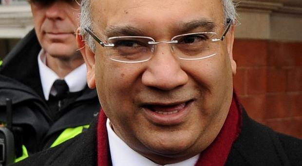 Keith Vaz MP, who has been accused of sexism after suggesting Cabinet minister Theresa May was 'looking a bit thin'