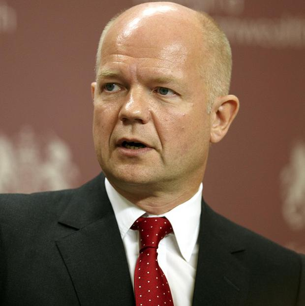 William Hague says the UK hopes to build support for human rights to assist the struggle against international terrorism