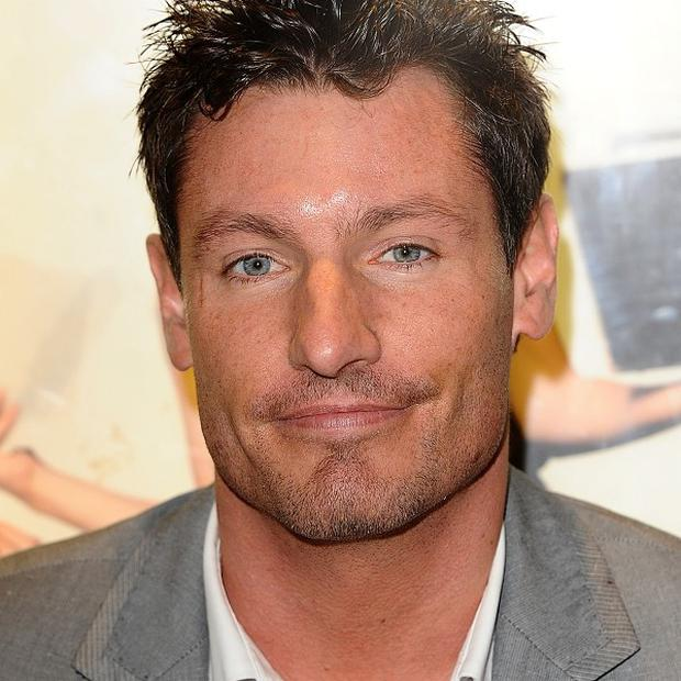 Dean Gaffney was left with a nasty gash to his forehead after a crash