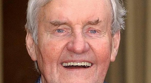 File photo dated 13/11/2003 of veteran actor Richard Briers, 69, with his CBE medal at Buckingham Palace, London. Briers, known to millions for his role in TVs The Good Life, who has died at the age of 79, his agent said. PRESS ASSOCIATION Photo. Issue date: Monday February 18, 2013. See PA story DEATH Briers. Photo credit should read: Kirsty Wigglesworth/PA Wire