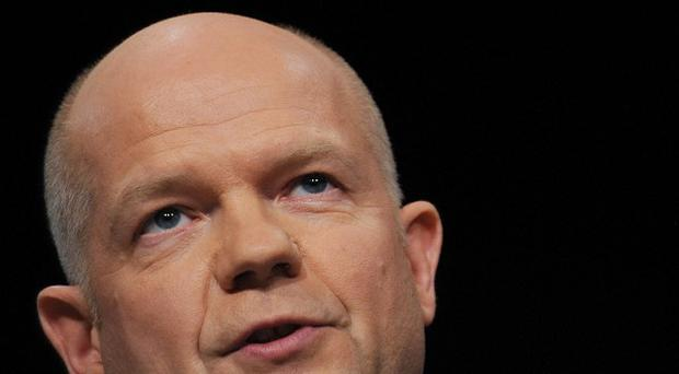 File photo dated 07/10/2012 of Foreign Secretary William Hague, who will warn that British disillusionment with the European Union is the