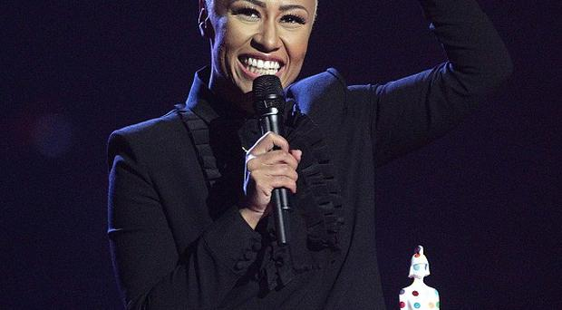 Emile Sande collects the Best British Female award on stage during the 2013 Brit Awards at the O2 Arena, London