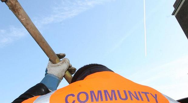 Community sentences include removing graffiti and clearing wasteland