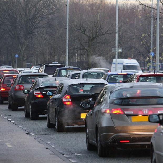 The daily commute by road for Britons adds up to an average annual total of 7,130 miles, a survey suggests