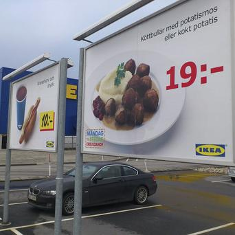 Ikea said only one batch of meatballs was affected by the horse meat discovery (AP)