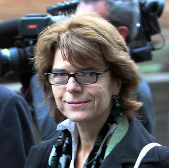 Vicky Pryce leaves Southwark Crown Court, south London