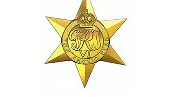 Graphic showing the proposed Arctic Star medal (MoD/PA)