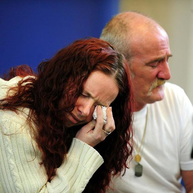 Mick Philpott and wife Mairead speak to the media following the fire at their home which claimed the lives of six children