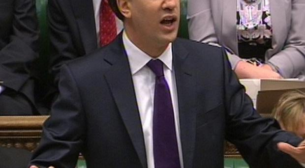 Ed Miliband seized on reports of division within the Government during Prime Minister's Questions