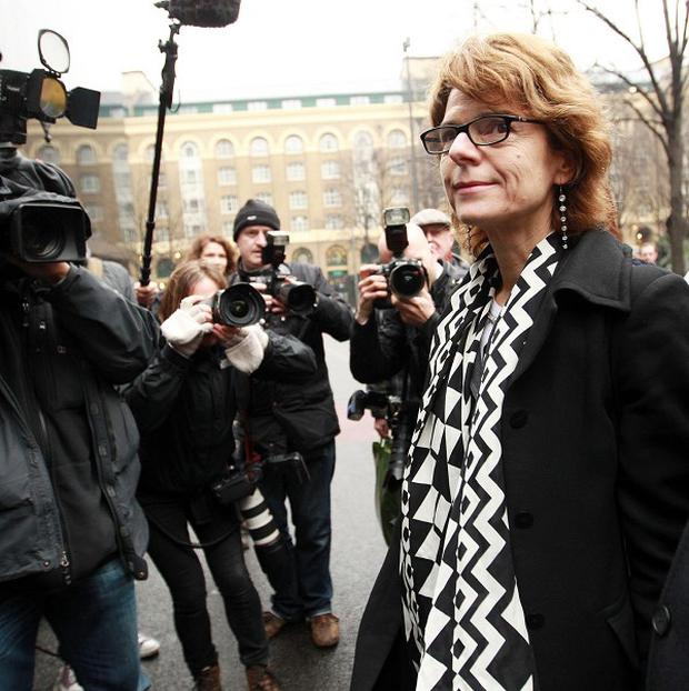 Vicky Pryce, the ex-wife of former MP Chris Huhne, leaves Southwark Crown Court after being found guilty of perverting the course of justice