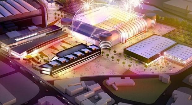 An artist's impression of a new sports facility for the Don Valley stadium footprint in Sheffield (Bon Bryan/PA)