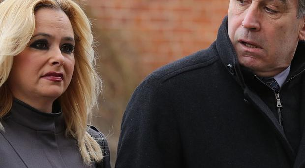 Ex-England goalkeeper Peter Shilton, accompanied by partner Stephanie Hayward at court, was banned from the road for drink-driving