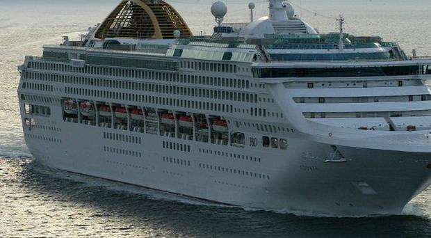 The couple are on a three-month P&O cruise around the Caribbean and South America on board the Adonia