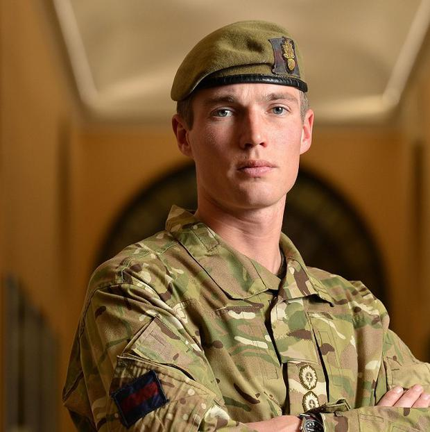 Captain Michael Dobbin, from the Grenadier Guards, led a charge at insurgents in Nahr-e-Saraj (PA/MOD)