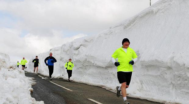 Forecasters predict the unseasonable cold snap could last until mid-April
