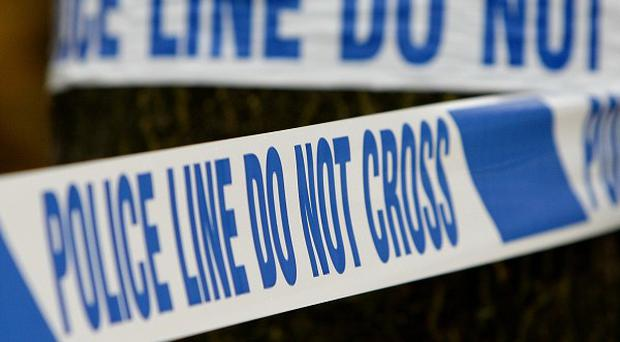 Two men who jumped from a building have been arrested on suspicion of aggravated burglary