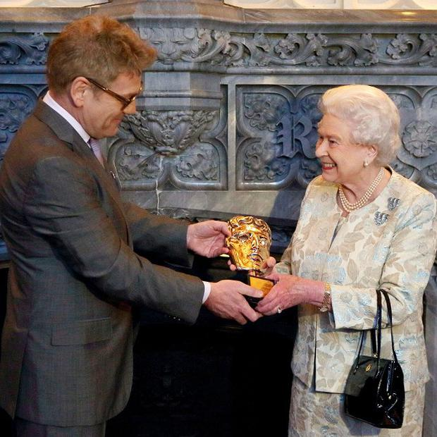 The Queen receives an honorary Bafta from Sir Kenneth Branagh
