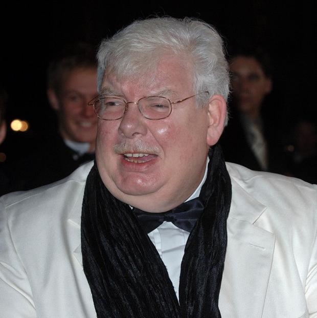 Stars including Daniel Radcliffe, Michael Palin and Alan Bennett were among 400 mourners at the funeral for Richard Griffiths
