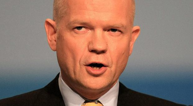 William Hague is hosting G8 talks in London