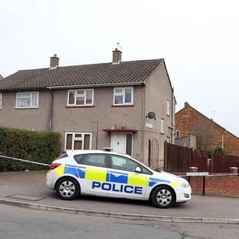 Bedfordshire Police outside the house on Brunel Road in Luton, Bedfordshire, near where Paul Foster was killed in a shooting