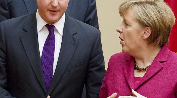 David Cameron is meeting German Chancellor Angela Merkel for talks on EU reform