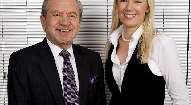 Lord Sugar with Apprentice winner Stella English