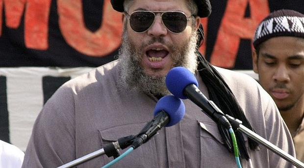 Haroon Aswat allegedly conspired with Abu Hamza, pictured, to set up terror training camps in the US