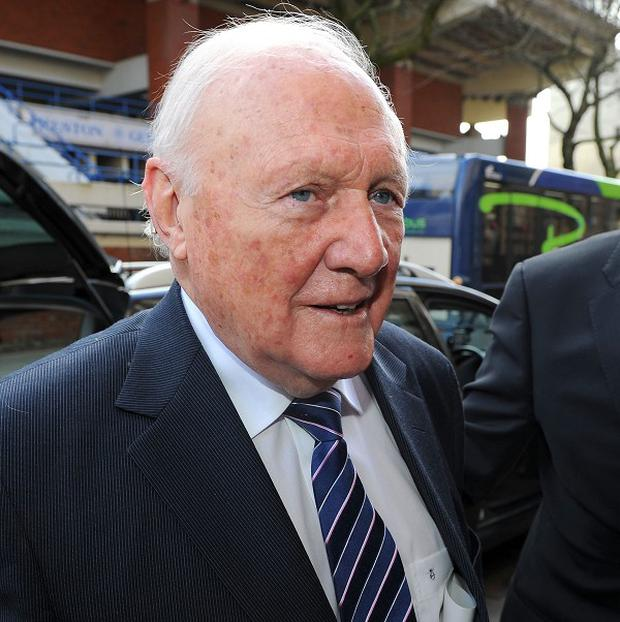 Former TV presenter Stuart Hall arrives at The Sessions House Crown Court, Preston