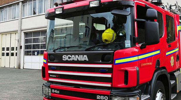 Firefighters have tackled a blaze at Hartlepool power station