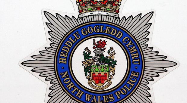 North Wales Police are investigating after objects were ignited in Denbigh