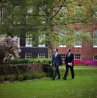 The garden behind Downing Street costs 50,000 pounds a year to maintain