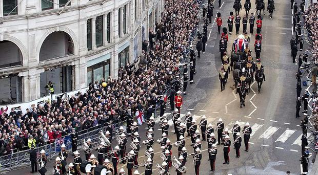 More than three and a half million pounds of taxpayers' money was used to pay for Margaret Thatcher's funeral