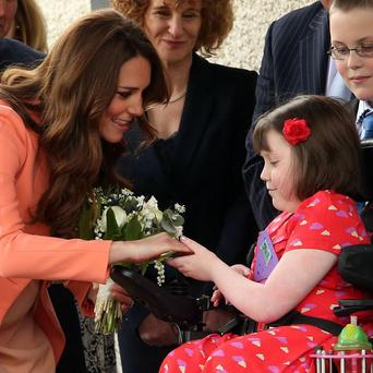 The Duchess of Cambridge meets Sally Evans