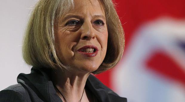 Home Secretary Theresa May said ministers needed to offer voters 'greater certainty' their will hold a referendum on Europe
