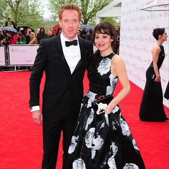 Damian Lewis and wife Helen McCrory arriving for the 2013 Arqiva British Academy Television Awards