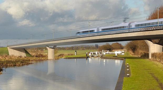 The Birmingham and Fazeley viaduct, part of the new proposed route for the HS2 high speed rail scheme