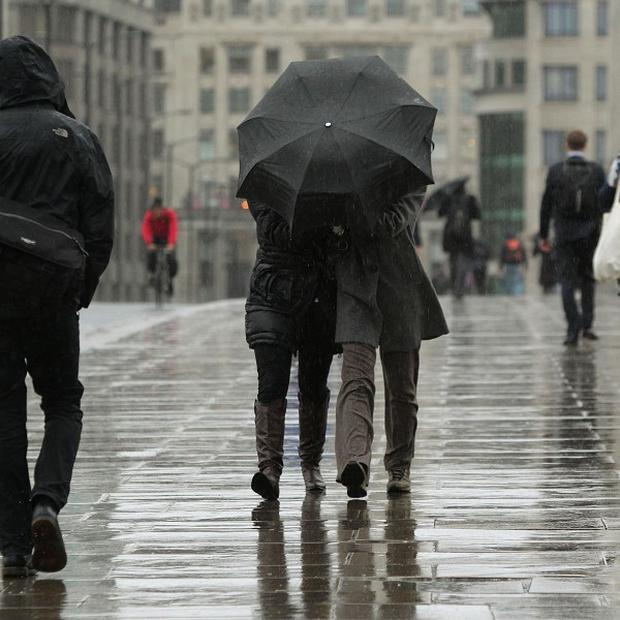 The South West and Wales are likely to be the worst affected by wet weather, forecasters said