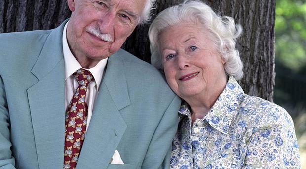 Arnold Peters, pictured with June Spencer, played Jack Woolley in The Archers for more than 30 years (Stuart Wood/BBC/PA )