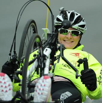 Claire Lomas has completed the equivalent of a marathon a day on a handbike