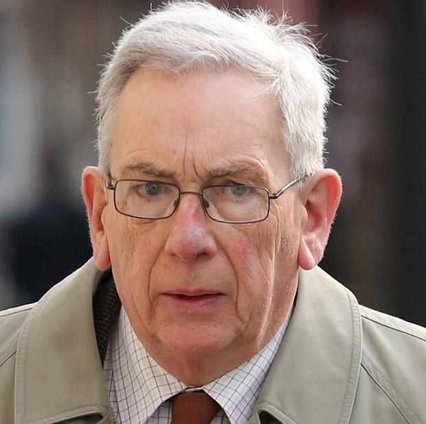 Former Anglican priest Canon Gordon Rideout arrives at Lewes Crown Court in East Sussex