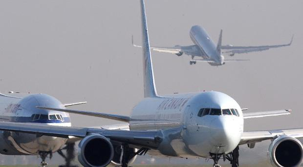 File photo dated 15/11/11 of airplanes queuing to take off on the Southern runway at Heathrow Airport, London as Low-fare airlines now account for almost two in five of all flights in Europe, according to latest figures.