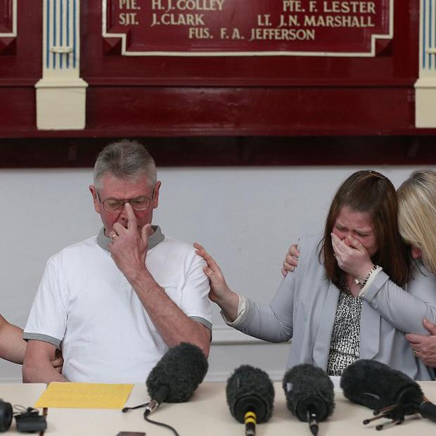 The family of Drummer Lee Rigby read a statement to the press