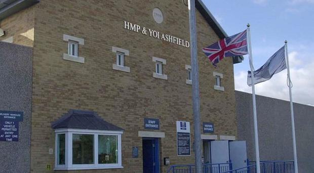 The exterior of the privately-run HM Young Offenders Institution Ashfield, near Bristol