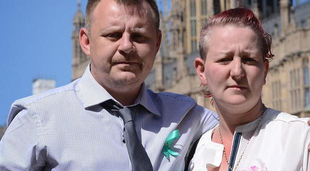 Shirley and Mike Anderson, the parents of Jade Anderson who was mauled to death by dogs