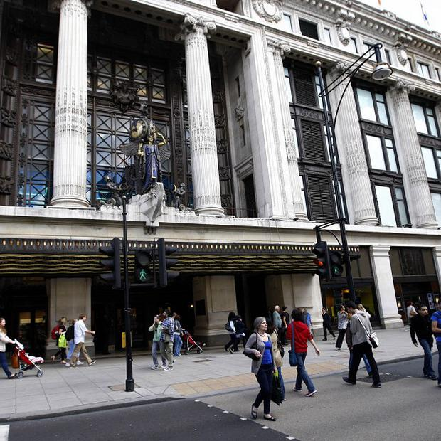 "Police investigating a 'smash and grab"" robbery at Selfridges have arrested two people"