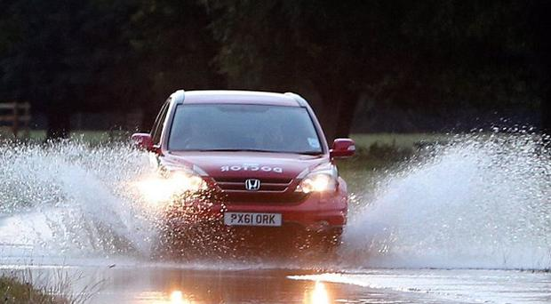 Up to 20mm of rain fell in just a few hours in the southern tip of Cornwall, causing flooding