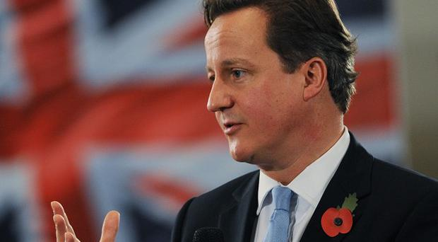 David Cameron says the Government is in a 'battle for Britain's future'